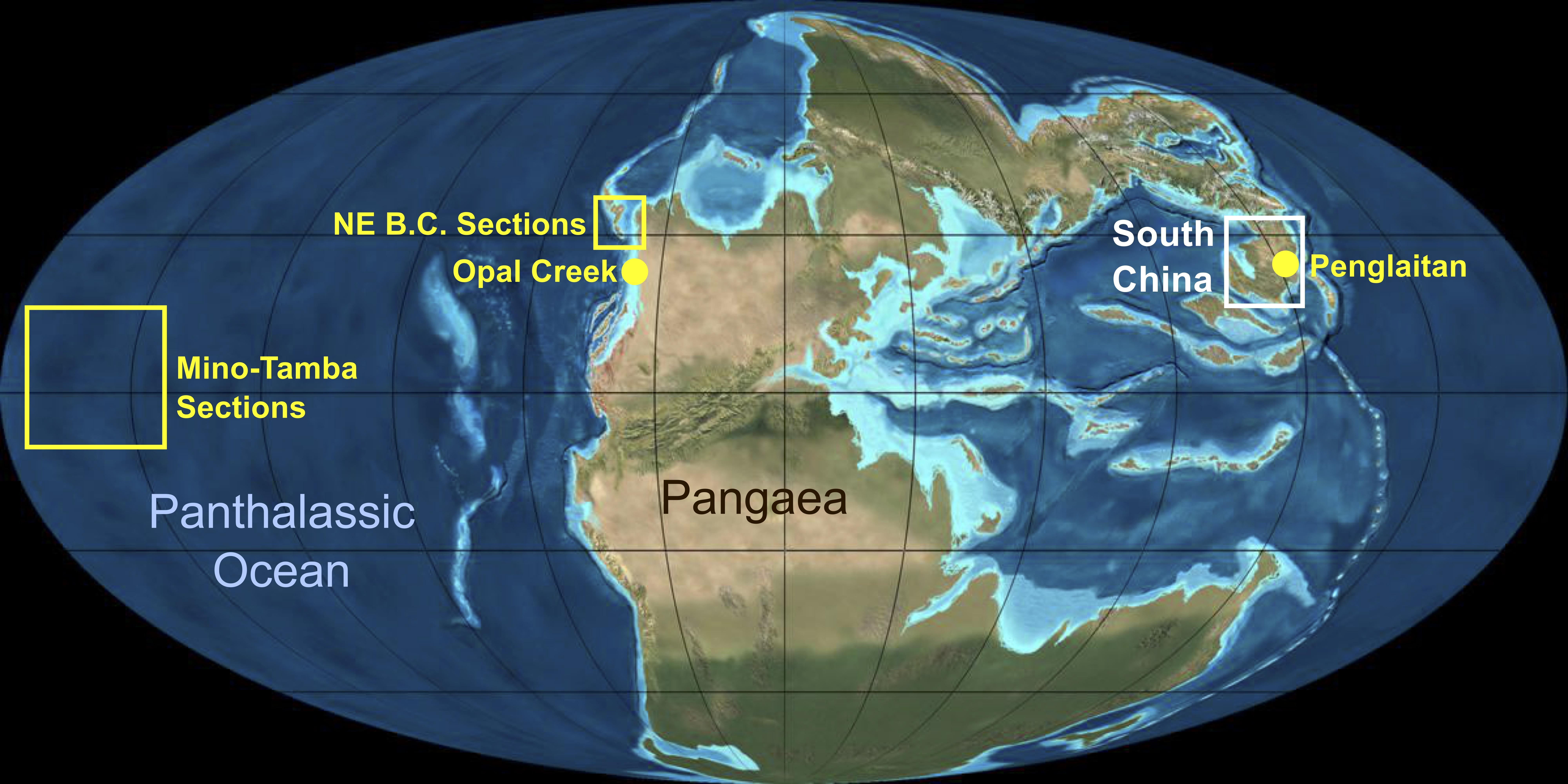 Jurassic map north america